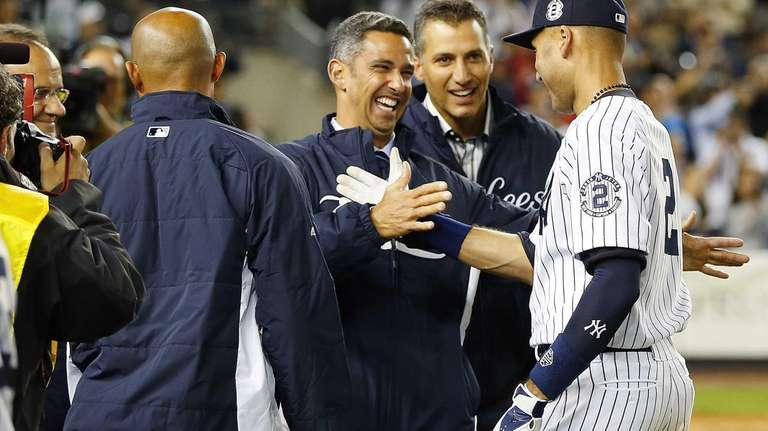 Derek Jeter of the Yankees has a moment
