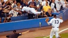 Trot Nixon lofted a ball down the leftfield
