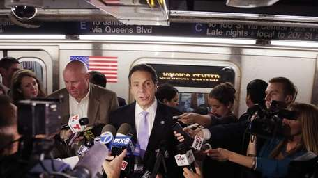 Governor Andrew Cuomo holds a news conference on