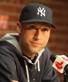 Yankees captain Derek Jeter meets the media at