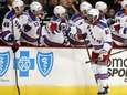 Rangers left wing Anthony Duclair celebrates his goal