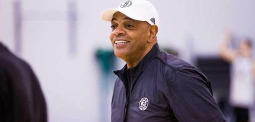 Nets head coach Lionel Hollins watches his team