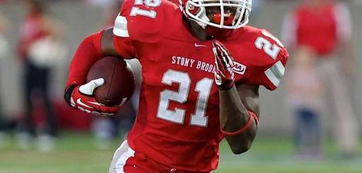 Stony Brook RB Stacey Bedell runs to the