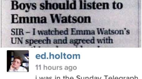 Screenshots of Ed Holtom's Instagram post about his
