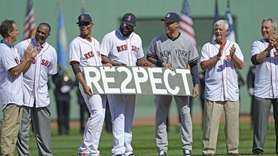 RED SOX In a pregame ceremony filled with