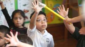 Four-year-old Kristian Padilla, a student in a state-funded
