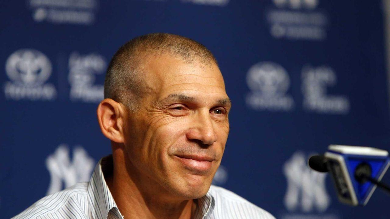 Yankees manager Joe Girardi speaks to the media