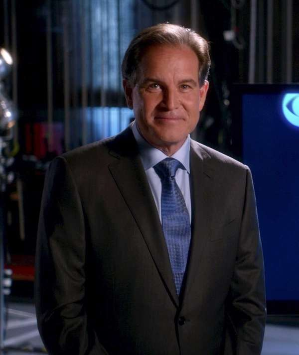 Lead NFL play-by-play announcer Jim Nantz looks on