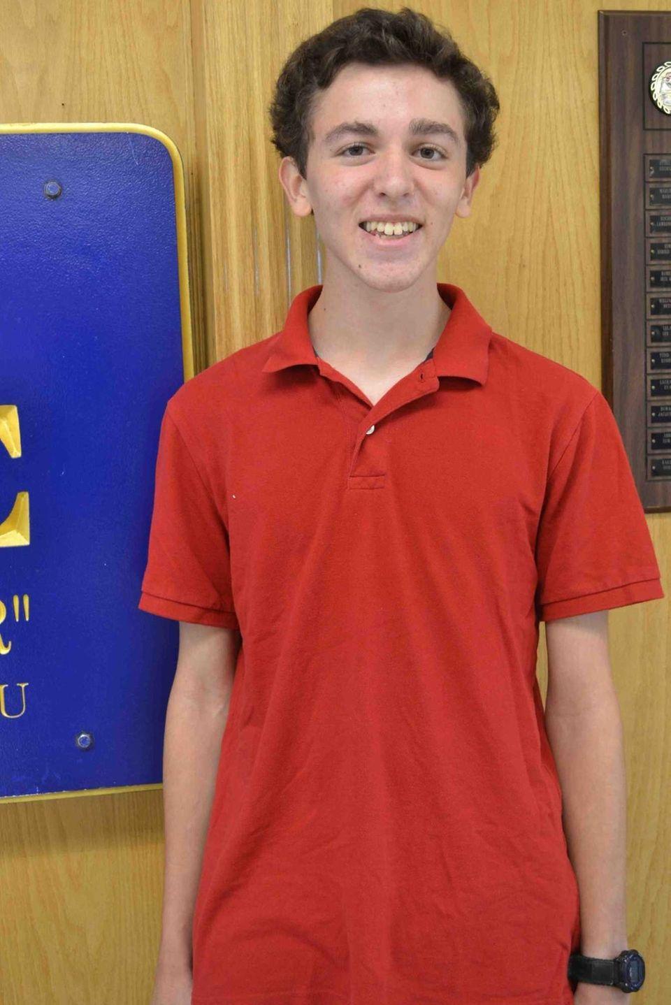 Jonathan Kapilian, 16, a junior at Long Beach