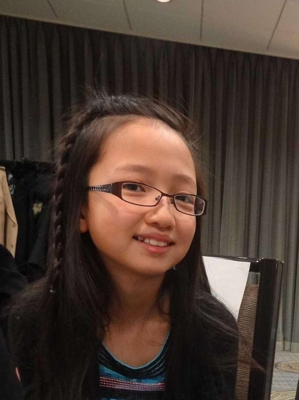 Annika Chang, 11, a student at Commack Middle
