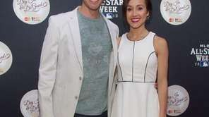 J.P. Rosenbaum and Ashley Hebert attend MLB Fan