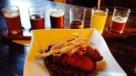 Ale-braised sausages highlight the Oktoberfest menu at BrickHouse
