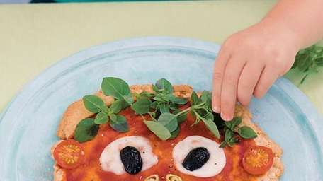 The pizza face recipe can be found in