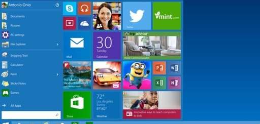 This is a version of the start menu