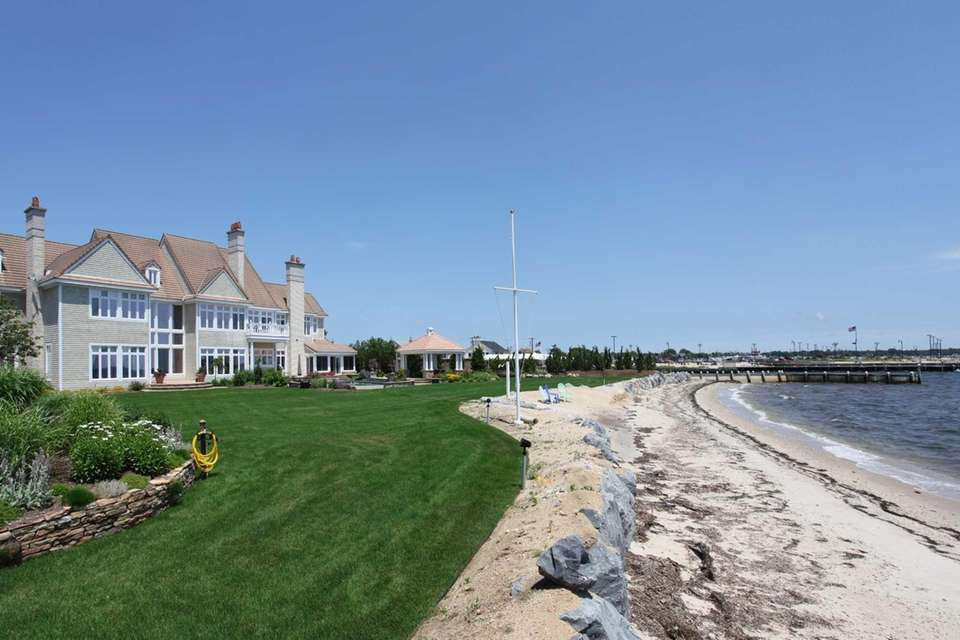 This Bay Shore Colonial, known as the Sandcastle,