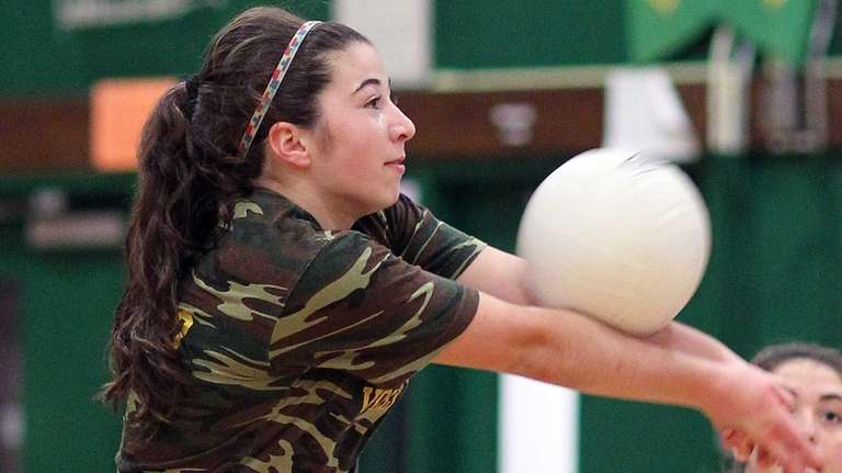 Lynbrook's Stephanie Milillo gets some practice in before