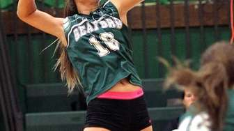 Seaford's Sophie Dandola gets ready to spike against