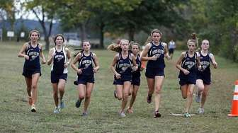 The Bayport-Blue Point girls finish as a team