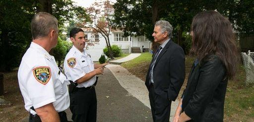 (L-R) Glen Cove Chief of Police William Whitton,