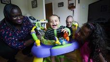 Regina Daniels-Jacoff, with her son Aaron, 7 months,