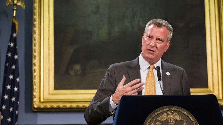 Mayor Bill de Blasio is abandoning his predecessor's