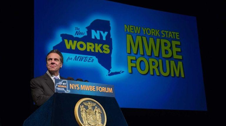 Gov. Andrew Cuomo announced Oct. 1, 2014, that