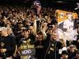 Pittsburgh Pirates fans cheer during their National League