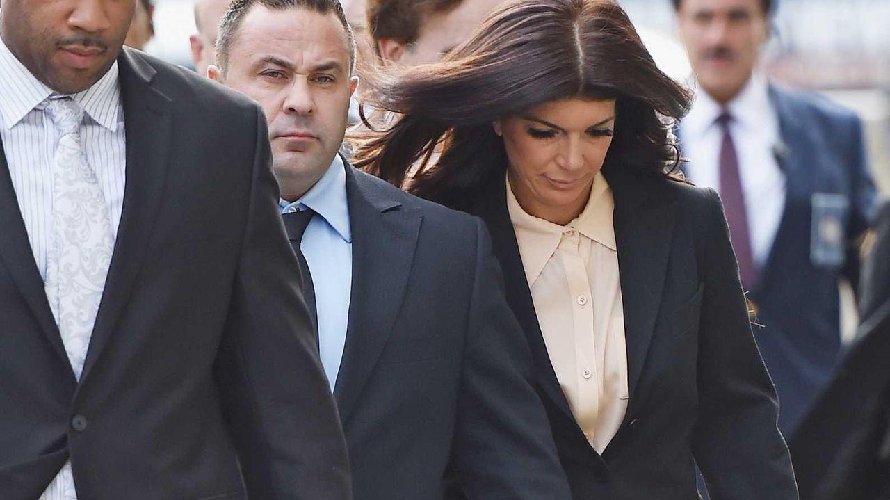 Joe Giudice and wife Teresa Giudice arrive for