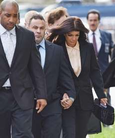 Joe Giudice and wife Teresa Giudice arrive for