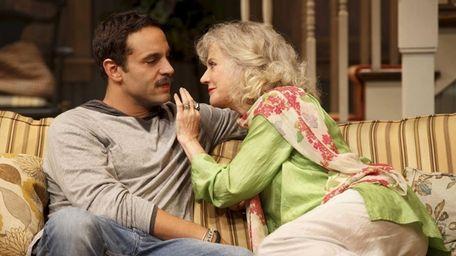 Daniel Sunjata and Blythe Danner in a scene