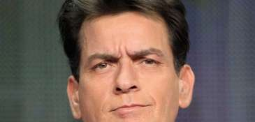"""Charlie Sheen speaks onstage at the """"Anger Management"""""""