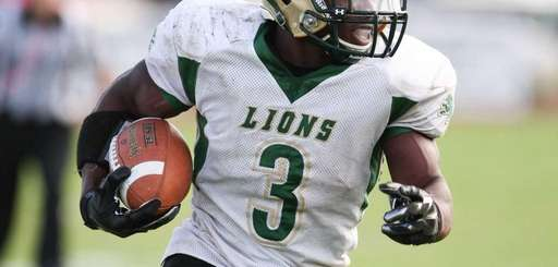 Longwood's Isaiah White runs in one of his