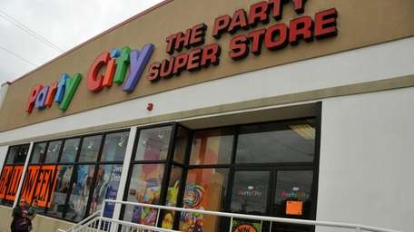 Customers enter a New Hyde Park Party City