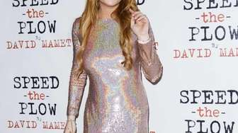 Lindsay Lohan attends the press night after party