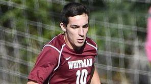 Whitman's Michael Lorello controls the ball against Central