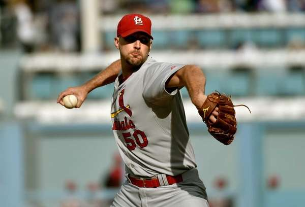 Starting pitcher Adam Wainwright of the St. Louis