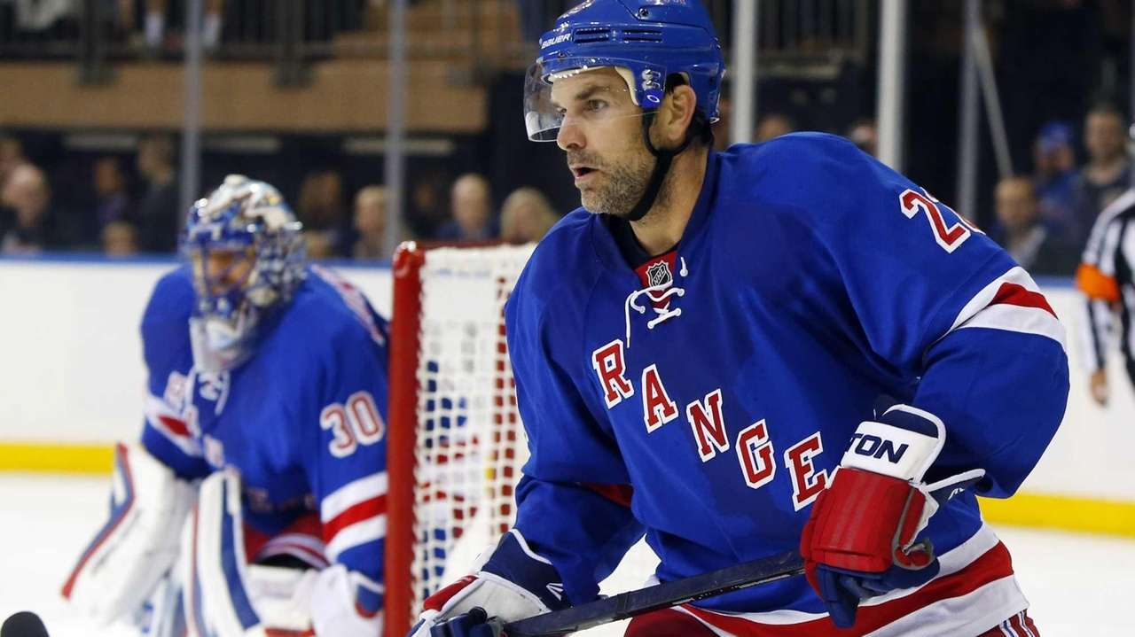 Dan Boyle of the Rangers skates against the