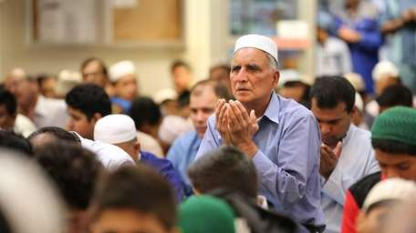 Hundreds attend special morning prayers at the Masjid