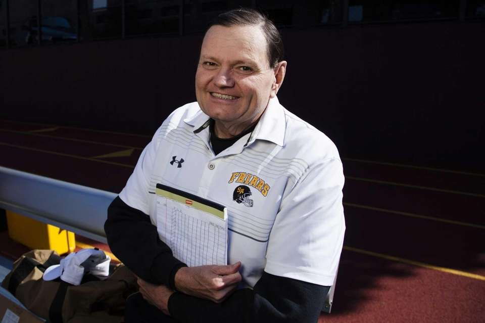St. Anthony's football statistician Tom Langan, 61, of
