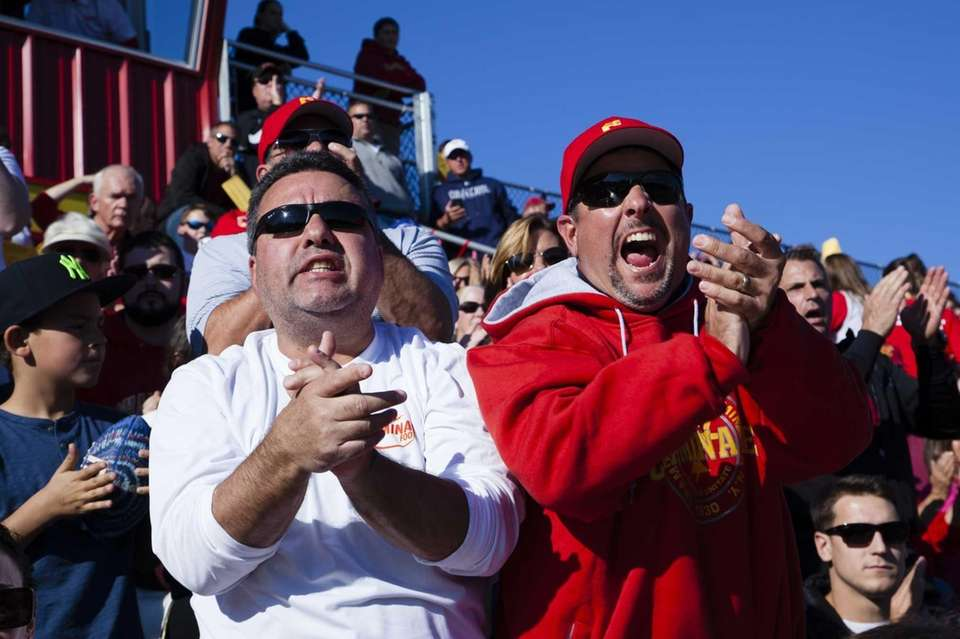 Chaminade fans watch the home football game between