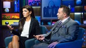 Teresa Giudice and her husband, Joe, talk with