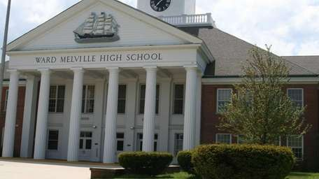 Ward Melville High School is shown in East