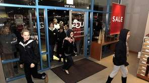 Shoppers surge into the Uggs Shore store in