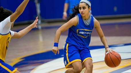 Krystal Luciano, a sophomore guard on the Hofstra