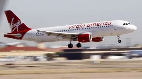 Virgin America's inaugural flight between Los Angeles and