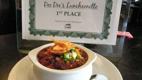 Prizewinning chili from Dee Dee's Luncheonette in Floral
