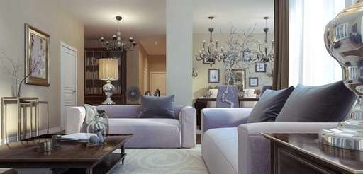 When creating a formal design, look for upholstery