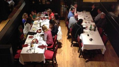 Two large groups dine at La Nonna Bella
