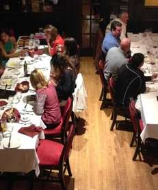 Two large groups dine at La Nonna Bella