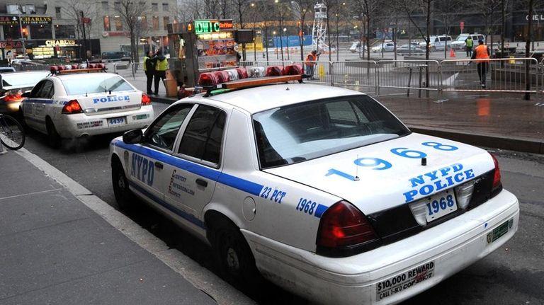 Police in Brooklyn, NY.